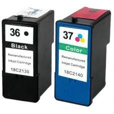 Compatible 36 18C2130 & 37 18C2140 Black & Colour Ink Cartridge Pack for Lexmark