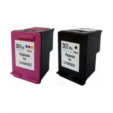 Compatible Printer Ink Cartridges HP301XL (Black + Colour)