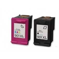 Compatible HP 901XL Black & 901XL Colour Ink Cartridge Pack