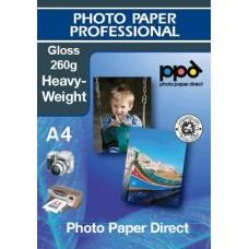 A4 inkjet Glossy Photo Paper Heavyweight 260g